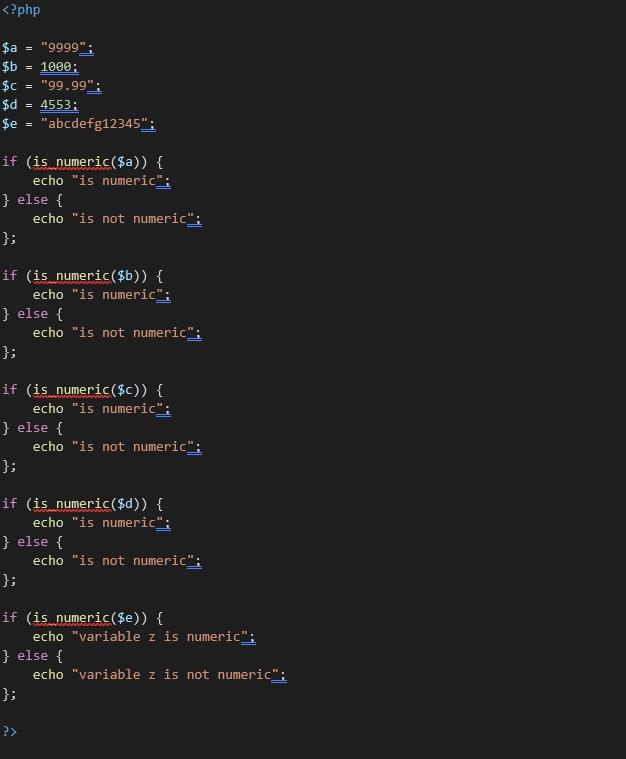 Is_numeric()